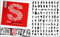 1000 album silhouette vecteur mat��riel divers-2
