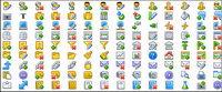 Sitio Web de uso com¨²n decorativas de fondo transparente gif pequeño icono