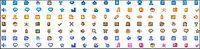 Una variedad de pequeños iconos gif p¨¢gina material decorativo