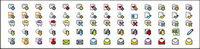 Un ensemble complet de d��licieuses petites icônes gif mat��riel