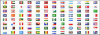 All countries in the world and regional flag and regional flag gif small icon material
