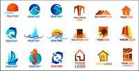 Logo-Vorlage Vektor Material