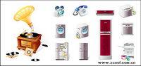 Haushaltsgeräte Telefon-Symbol Vektor-Material