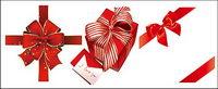 Red Ribbon Bogen Geschenk Vektor Material