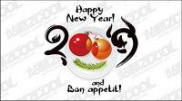 Feliz Año Nuevo 2009 de material de vectores