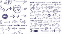 Graffiti arrows directed vector material