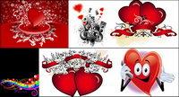 Saint Valentin en forme de coeur vecteur mat��riel