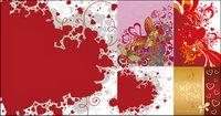 le th��me de la Saint Valentin en forme de coeur vecteur mat��riel