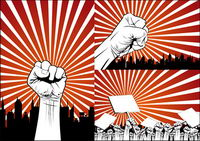 Fists protester Series Vector mat��riel
