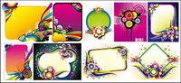 Designed mehrere Trends Illustrator Vektor-Material