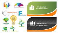 Karten-und Logo-Vorlage Vektor Material