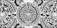 Classique myst��rieux circulaire vecteur mat��riel