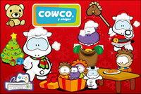 cute dibujos animados Navidad Cowco vector objeto material