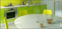 Cocina tono verde material de imagen