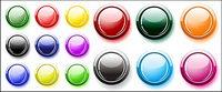 Beaucoup de couleurs bouton rond Crystal vecteur mat��riel