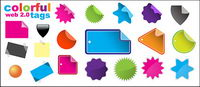 web2.0 tag element vector material