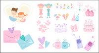 Cute vector icono bienes materiales-3
