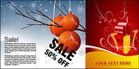 Winter Rabatt Muster vorliegenden Verkaufs-und Vektor-Material