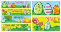 Los huevos de Pascua de vectores bandera de material