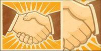 Ilustraci¨®n vectorial material Handshake