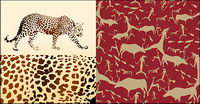 Vector Hintergrund der Leopard und tierischem Material