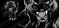 Wilder Panther Vektor Material