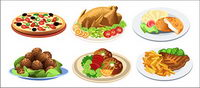 Western-style food vector material