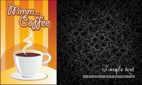 Ligne de caf�� et les arri��re-plans d��sordonn��s vecteur mat��riel