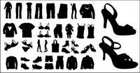 Vector silhouette de v��tements et de chaussures