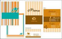 Catering Speisekarte Vorlage Vektor Material
