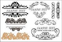 Praktische Mode exquisite Spitze Muster Vektor Material