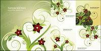 5 Fashion fleur mod��le vecteur mat��riel