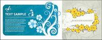 Karte Vector Mode Blumen Muster ma