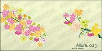 Schöne Blumen, Zweigen Vektor Material