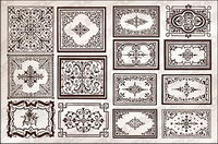 Variety of practical European-style lace border vector material