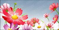 Belles fleurs vecteur mat��riel