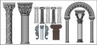 Nombre de style europ��en classique colonnes mod��le vecteur mat��riel