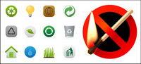 Umweltschutz und das Verbot von Feuer Material Vector Symbol