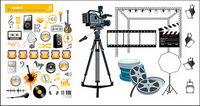 Film und Musik Element Vektor Material