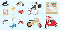 Les jouets pour enfants icône vecteur mat��riel