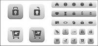 Boutique en ligne icône vecteur mat��riel