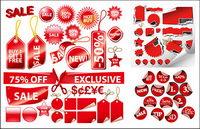 Red Label eine Vielzahl von dekorativen Material Vektorgrafiken