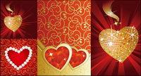 Le cœur en forme de diamant de bijoux vecteur mat��riel