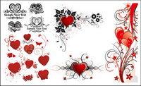 Schöne Reihe von Herz-förmigen Muster Vektor Material