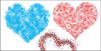 3 sp��ciale en forme de coeur vecteur mat��riel-2