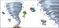 Tornado cartoon vecteur mat��riel