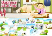 Business cartoon 18 vecteur ��l��ment mat��riel