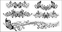 Schöne Schmetterling Muster Vektor Material