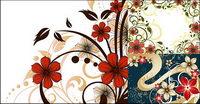 Blumenmuster Vektor Stil Fashion Material