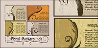 Nostalgie-Stil Karte Muster Vektor Material